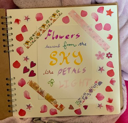 My Scrapbook Page 1 Flowers Descend From The Sky Like Petals Of Light.jpg